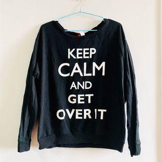 H&M Black Statement Sweater