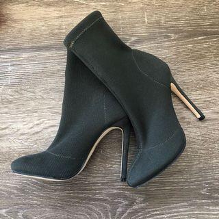 Khaki Sock Boots