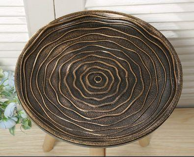Elegant ROSE Wooden Coffee Table/Plate- Bronze, 3 Sizes