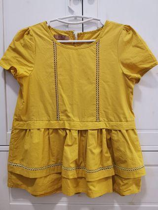 Yellow baby doll top