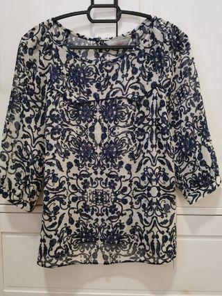 Dorothy Perkins sheer blouse