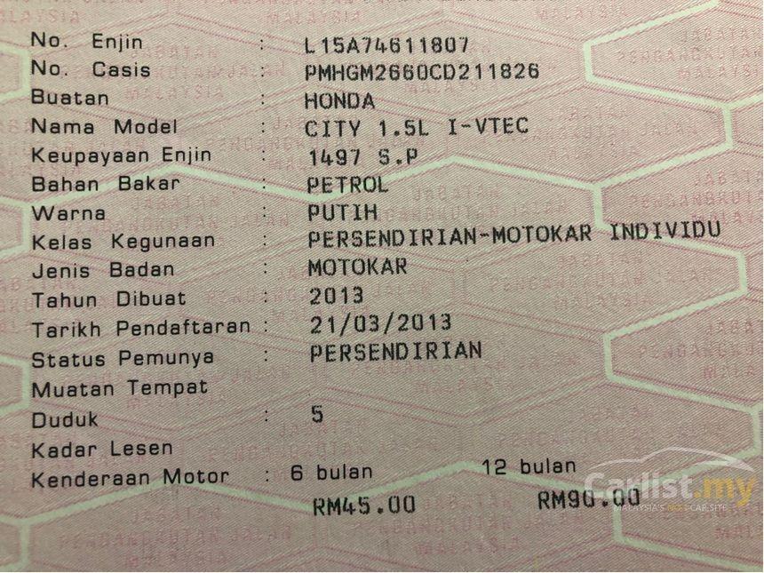 2013 Honda City 1.5 E i-VTEC (A) Facelift Model One Owner    http://wasap.my/601110315793/CityE2013