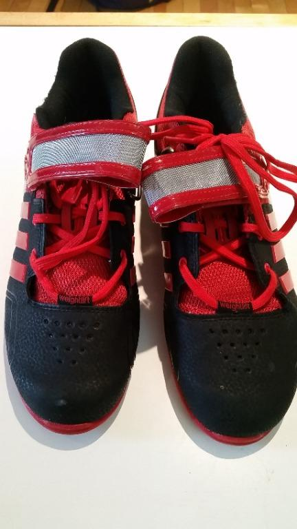adidas adipower weightlifting shoe- red/black- 9.5US-used