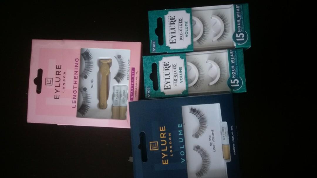 Brand new eyelashes $5ea glued, volume & lengthing