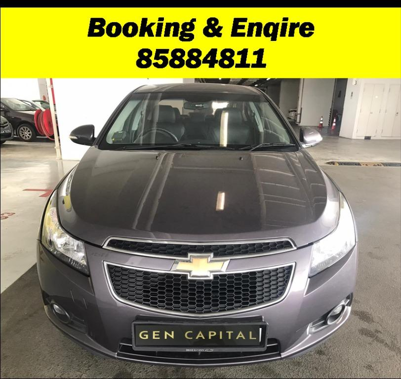 Chevrolet Cruze JUST IN with Lowered rental rates!! PHV/ Personal/ Parcel delivery available, Just $500 Deposit driveoff immediately. No hidden cost. Whatsapp 81888616 now!