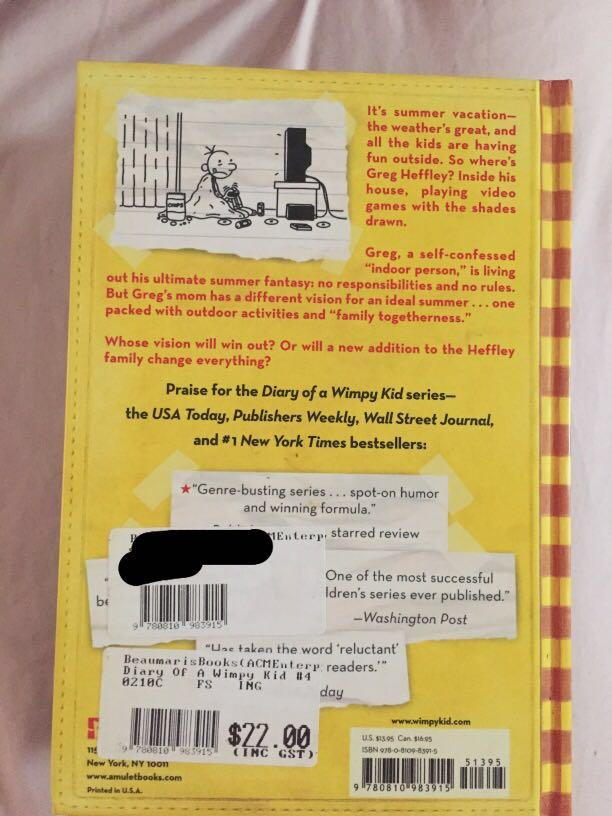Hard cover Diary of a Wimpy Kid series by Jeff Kinney
