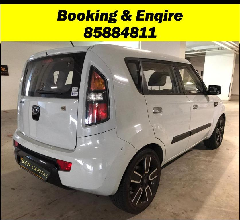 Kia Soul 1.6A JUST IN with Lowered rental rates!! PHV/ Personal/ Parcel delivery available, Just $500 Deposit driveoff immediately. No hidden cost. Whatsapp 81888616 now!