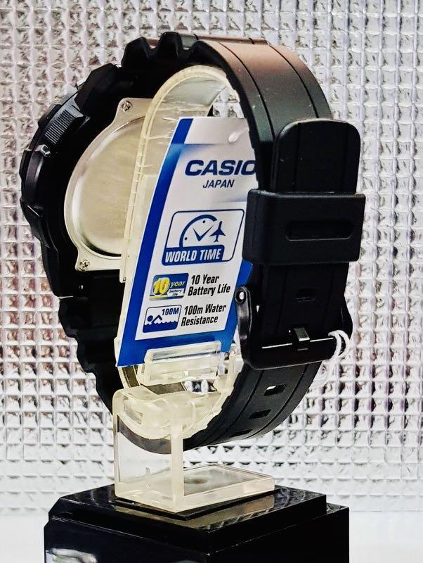 NEW🌟TORNADO CASIO UNISEX SPORTS WATCH : 100% ORIGINAL AUTHENTIC : By BABY-G-SHOCK ( GSHOCK ) COMPANY : AEQ-100W-1B (STEALTH FULL BLACK)