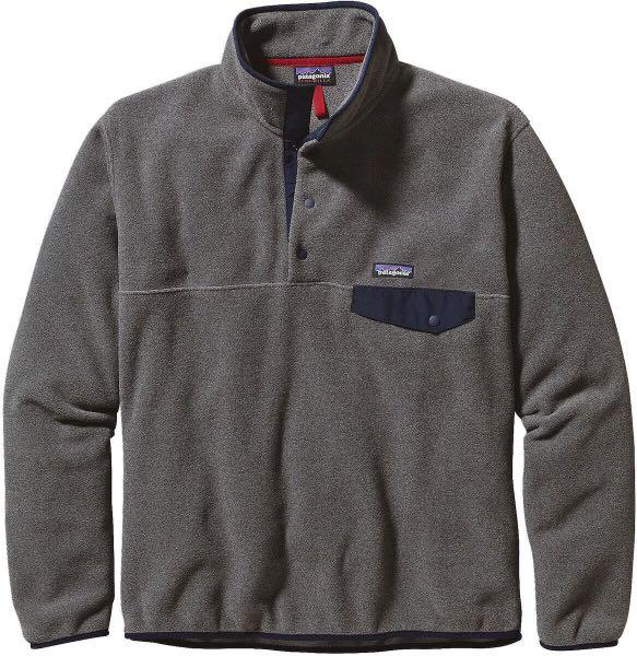 Patagonia Synchilla Snap-T Sweater | Grey and Navy Blue | Size Small
