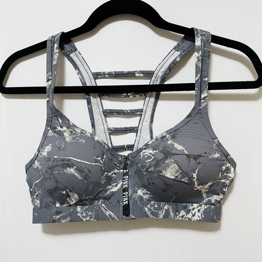 PINK Victoria's Secret marble sports bra size medium