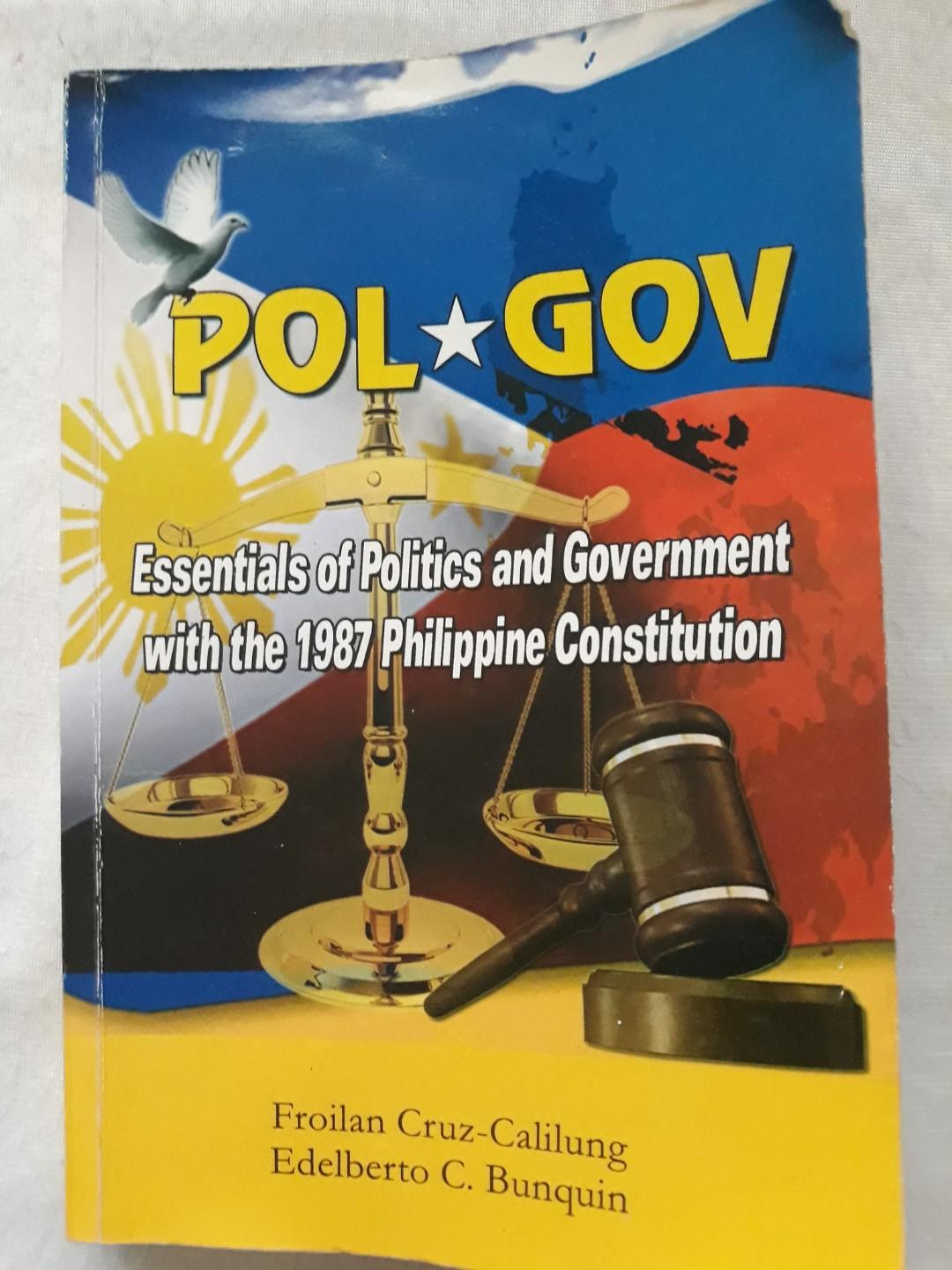 POL GOV Essentials of Politics and Government with the 1987 Philippine Constitution