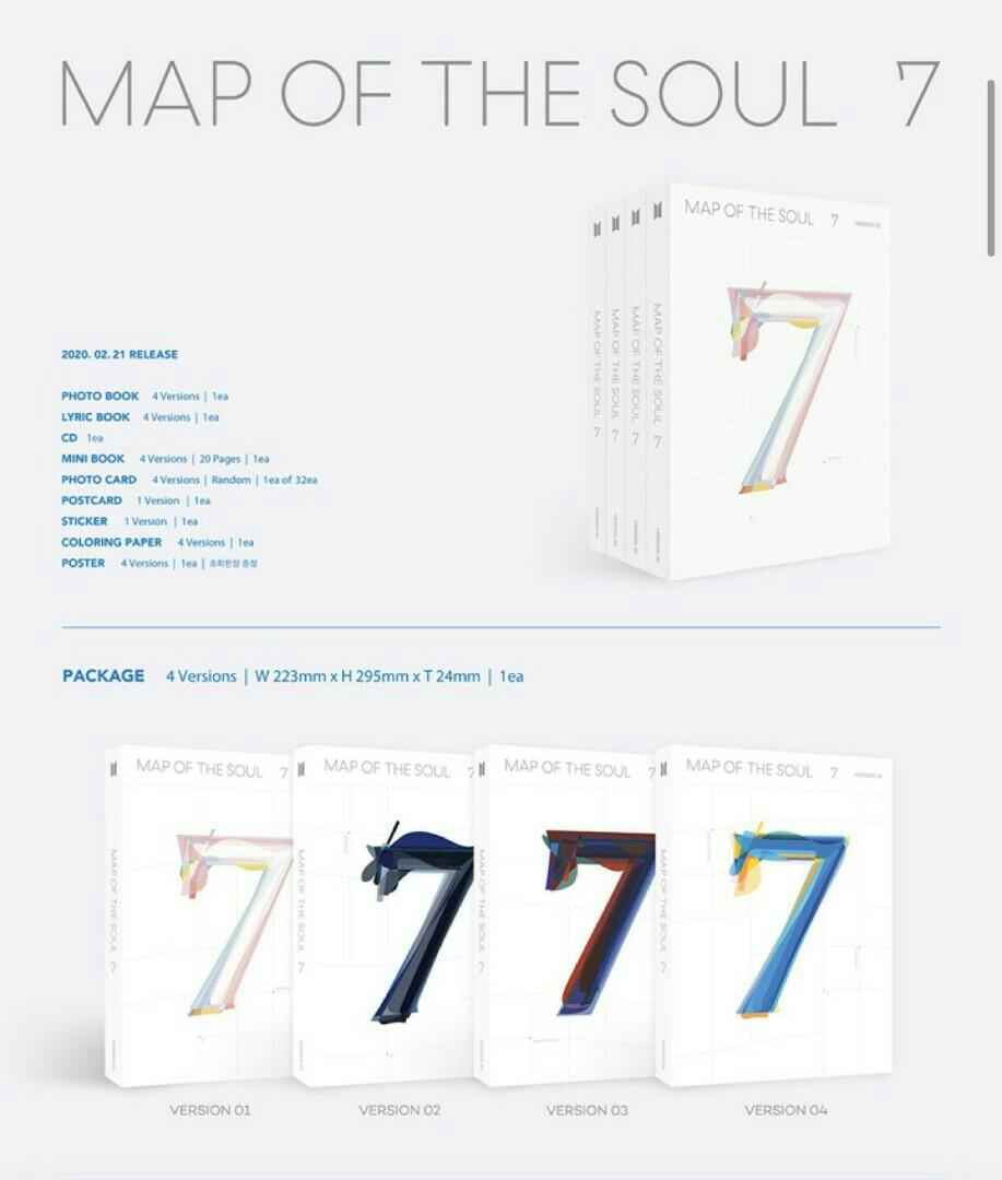 [SHARE WEPLY] BTS MAPS OF THE SOUL 7 MOTS 7 PRE ORDER