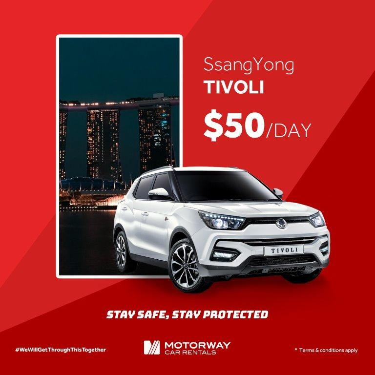 SsangYong Tivoli (5 seater SUV 2019 model available, while stocks last!)