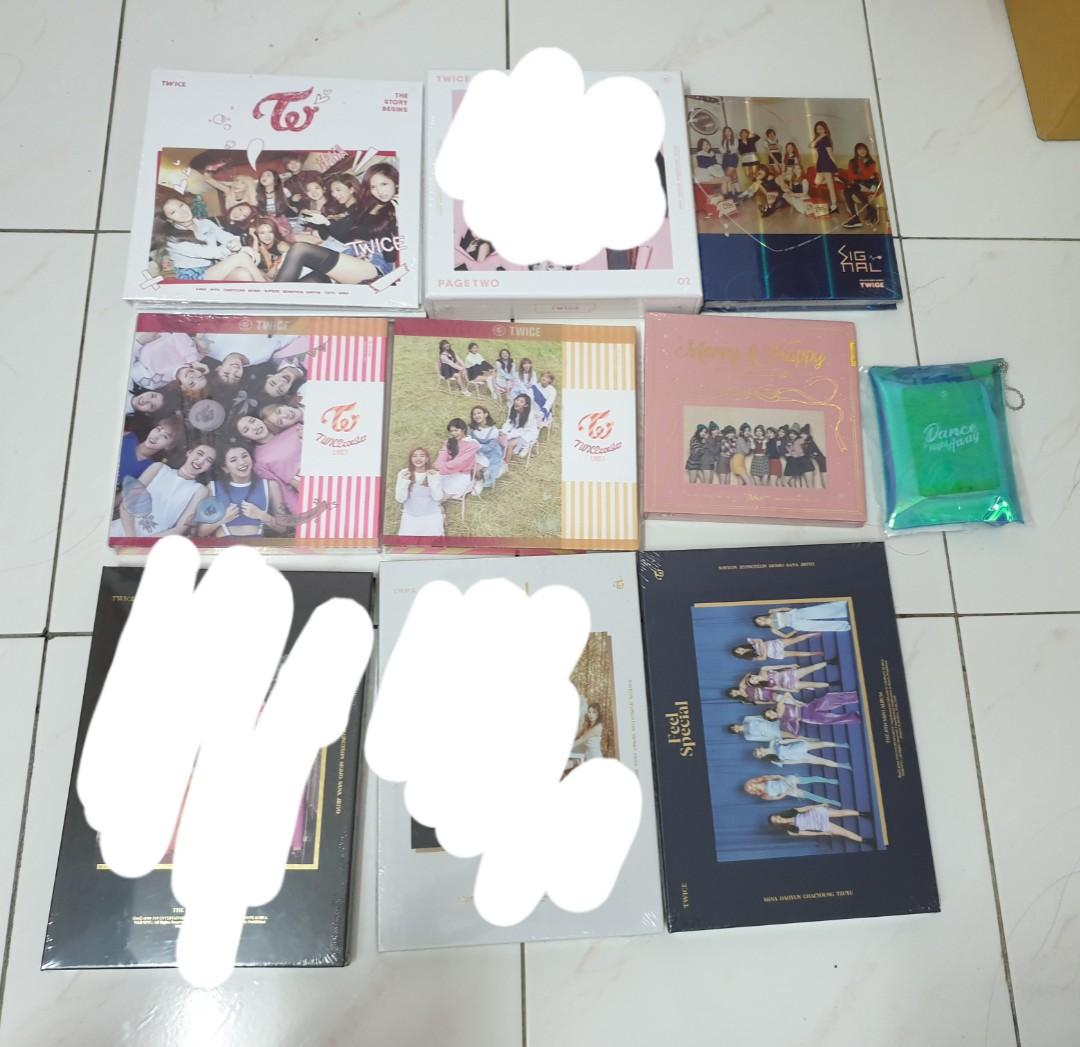 Twice sealed album ( story begin, page2, lane 1 ,signal, merry happy,feel special)