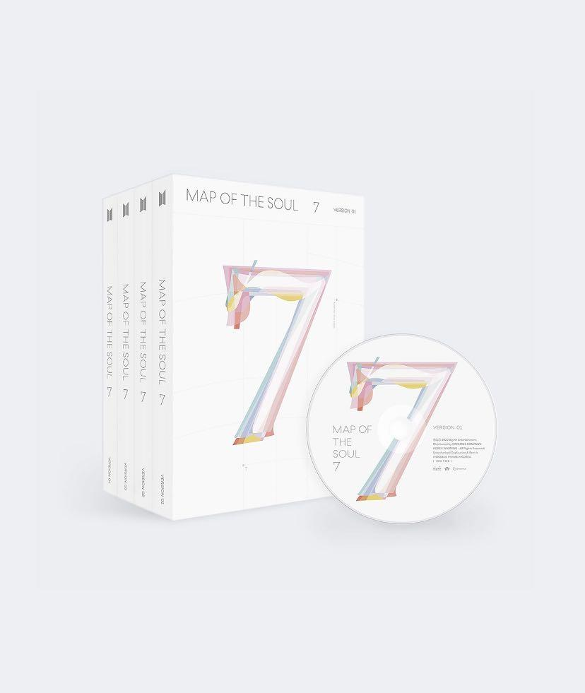 [WEPLY] DIRECT SHIP - BTS MAP OF THE SOUL 7 : SET OF 4 VERSION