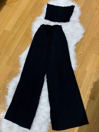 2 piece set with leg slits