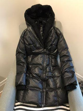 Mackage for aritzia xs black down leather jacket