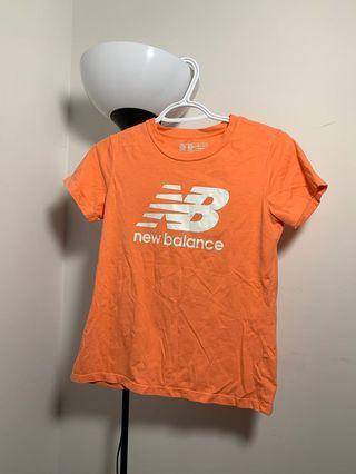 New Balance orange Logo T-shirt
