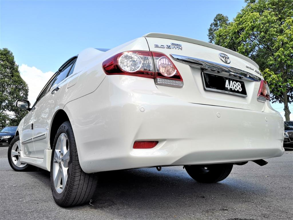2012 Toyota Corolla Altis 2.0 V Sedan (A)[FACELIFT][ONE OWNER][TIP-TOP CONDITION][ACTUAL 2012]