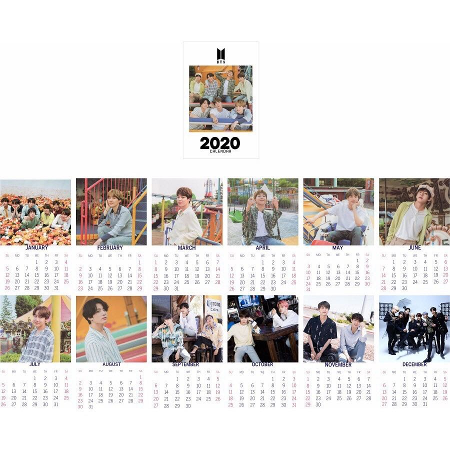 2020 KPOP BTS BLACKPINK TXT Desk Calendar Note Table Calendar Decor