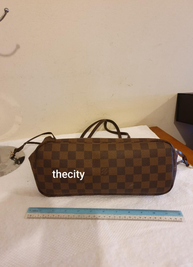 AUTHENTIC LOUIS VUITTON DAMIER CANVAS NEVERFULL PM SIZE - OVERALL FAIR / OK - VINTAGE CLASSIC, SO NOT FOR FUSSY BUYERS- ( NOW RETAILS AT RM 5850+)
