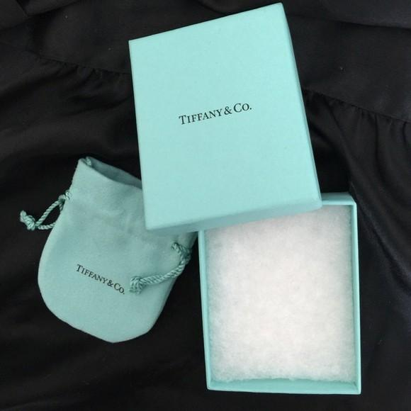 💯%AUTHENTIC TIFFANY Paper BAG paperbag package box real original ribbon BLUE TURQUOISE classic bag tiffany & co