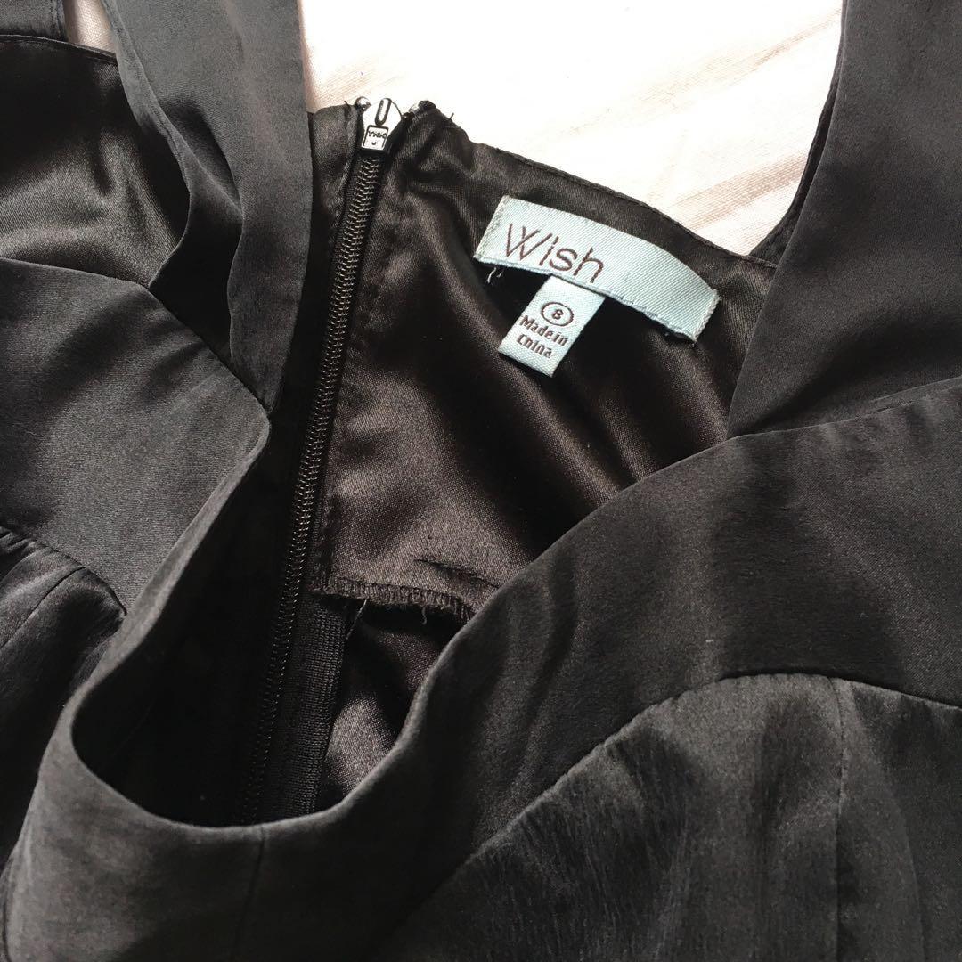 Black Silk Dress | Vintage Wish the Label | Size 8