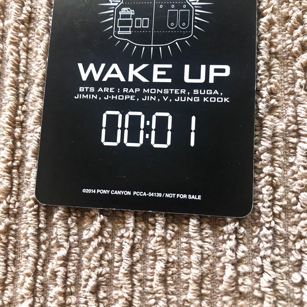 Bts official group wake up japan album photocard kpop