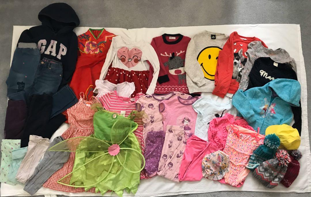 EUC girls jacket/dress/jegging/tops/costume/swim suit/clothing lot (total 35 items) (5-6y, 6-8y, 9-11y)