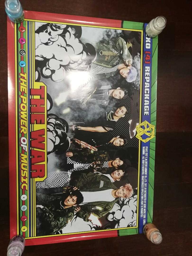 EXO The War The Power Of Music Official poster from Korea