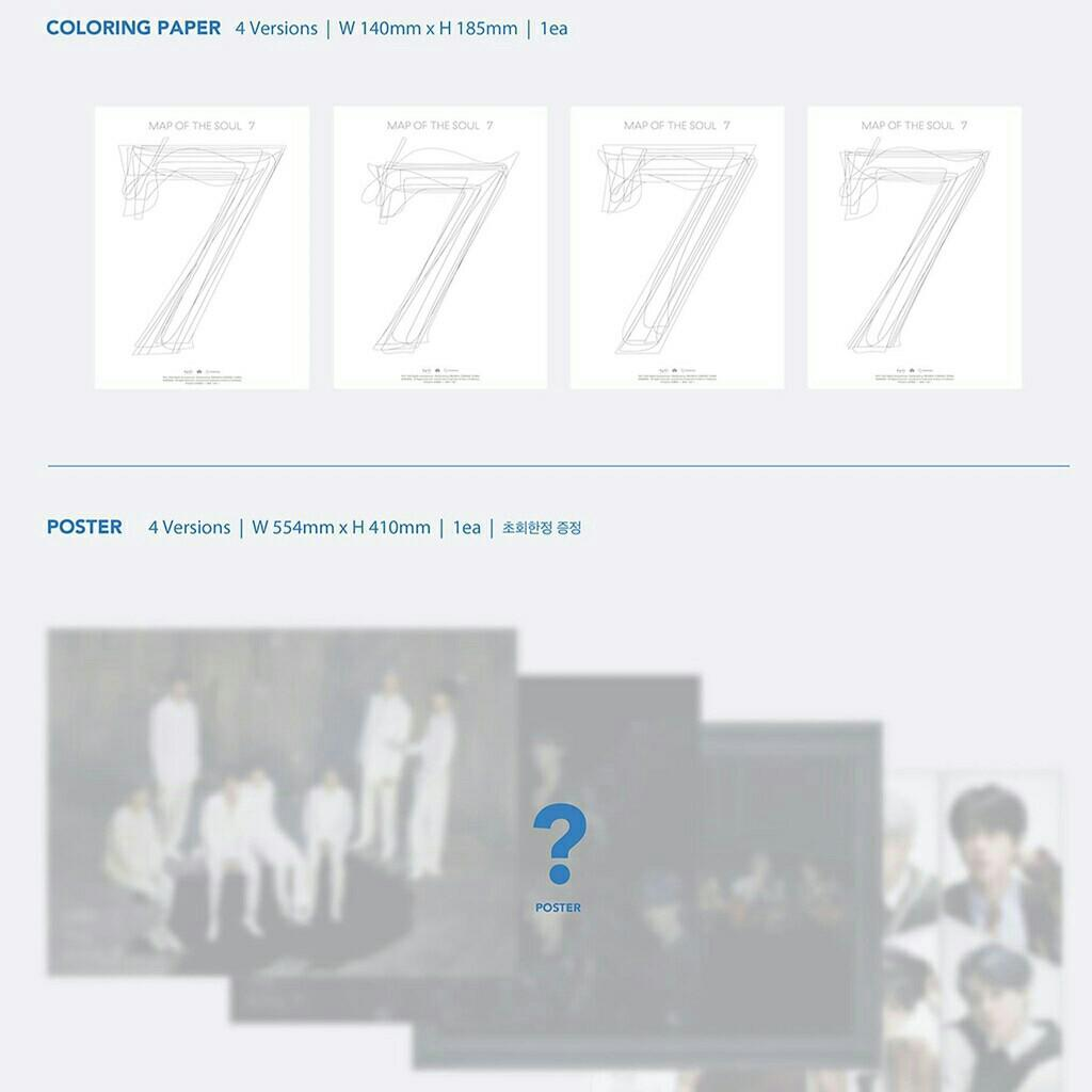[INCOMING STOCK] BTS MOTS7  MAPS OF THE SOUL PRE ORDER