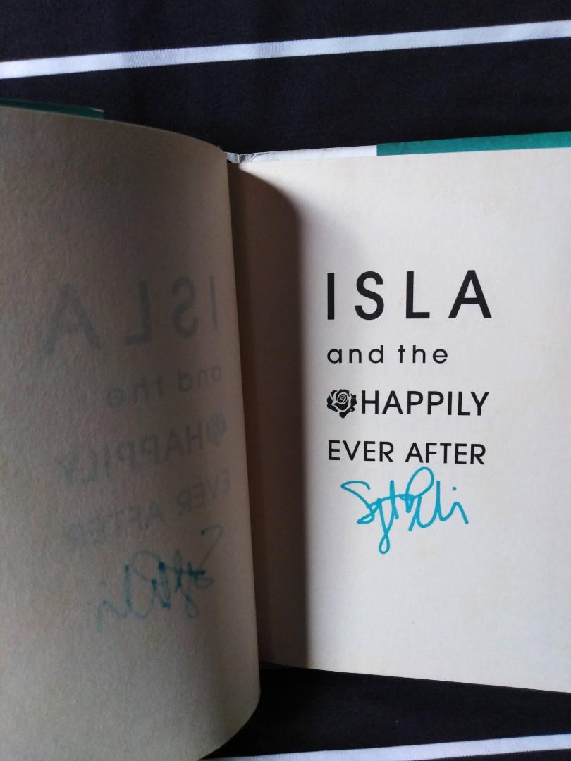 ISLA and the Happily Ever After SIGNED HB by Stephanie Perkins