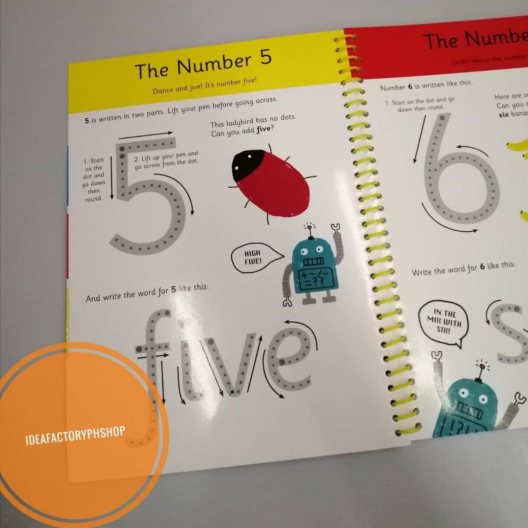 My Big Wipe Clean Numbers Book Children's Educational Book for Preschool Kids
