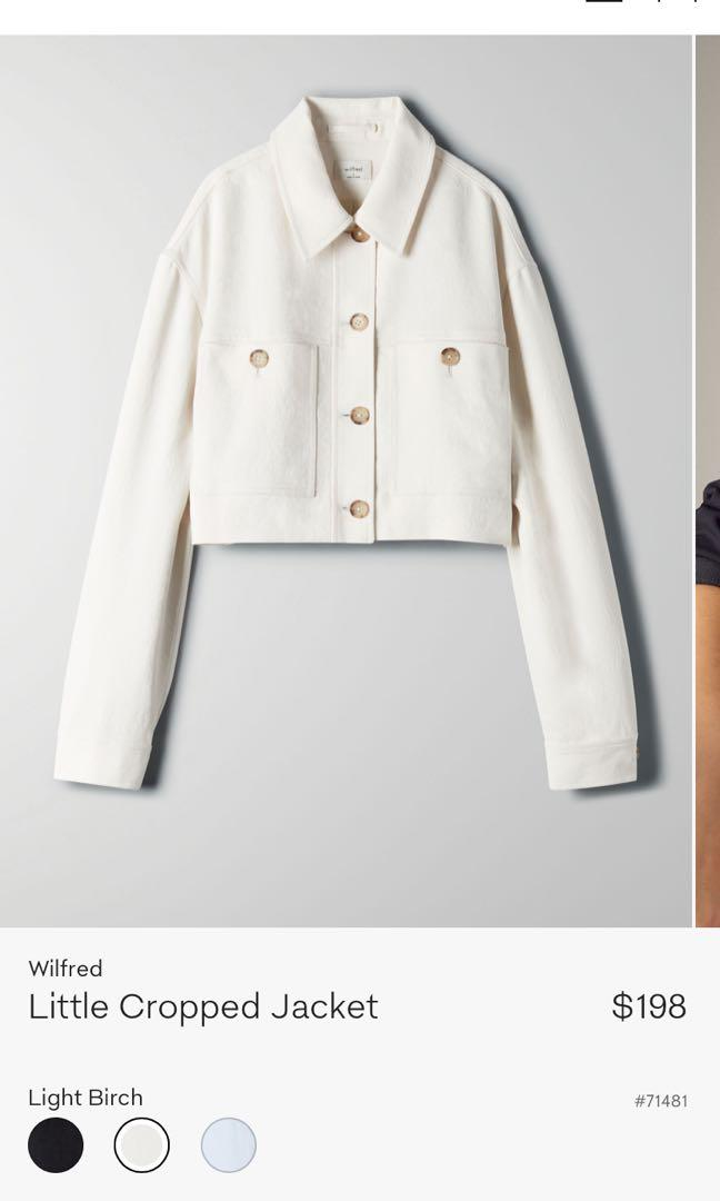 NWT Wilfred Little Cropped Jacket in Light Birch XS