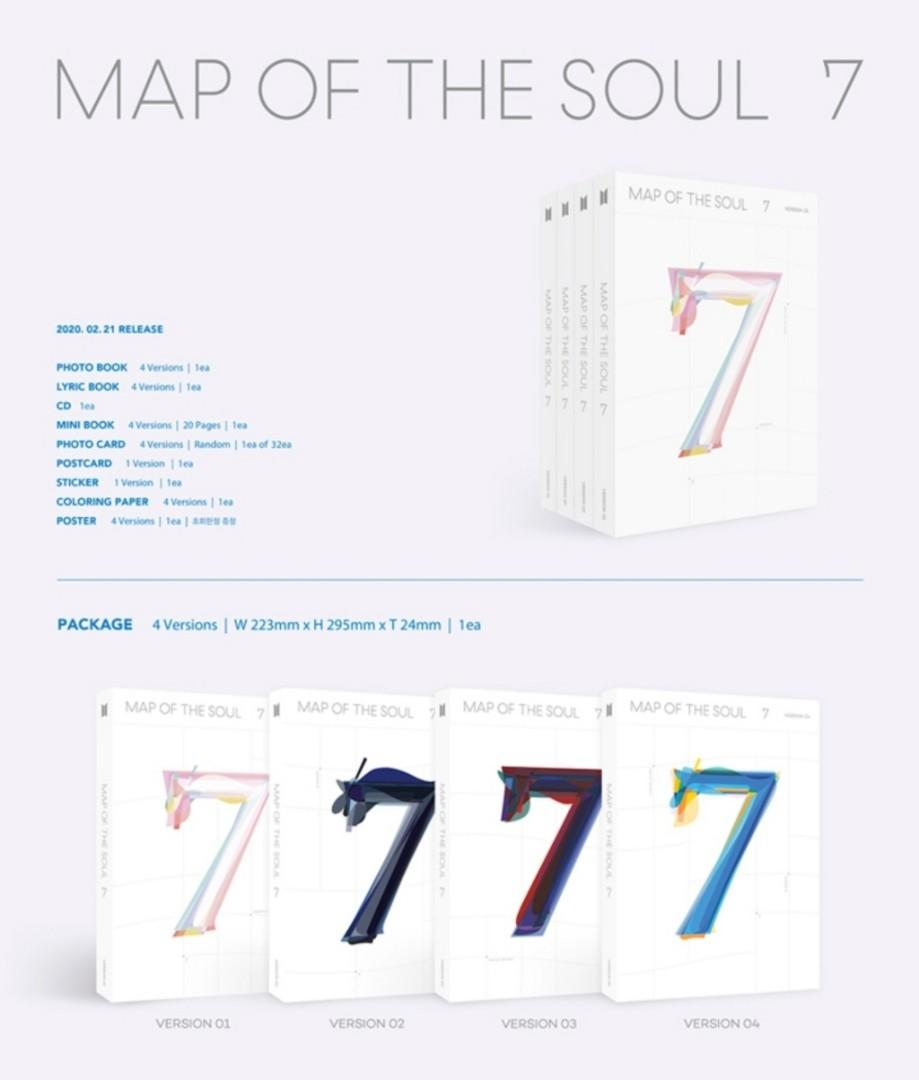 [PREORDER] BTS Map of the Soul : 7 (Weply Group Order) -ON HOLD-