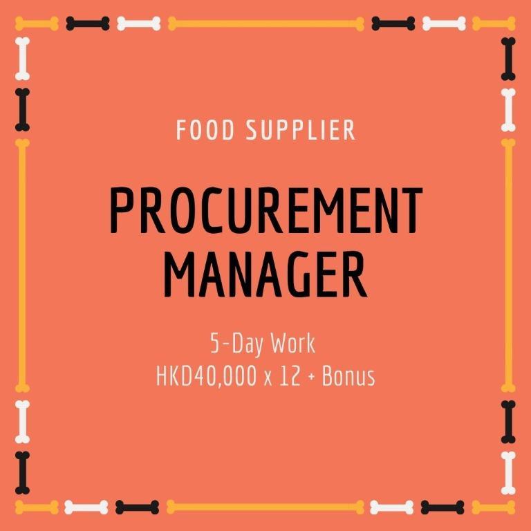 Procurement Manager (5D, $40,000)