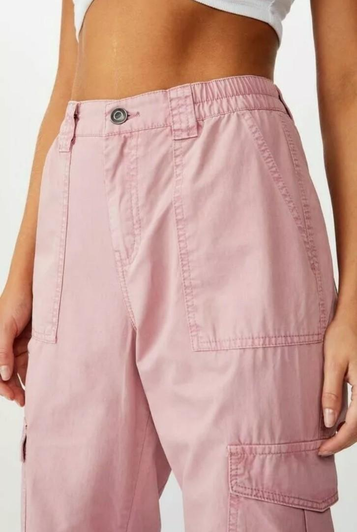 SUPRE size 8 Dusty Pink 'Kendra' High Waisted Combat Cuffed Cargo Pant