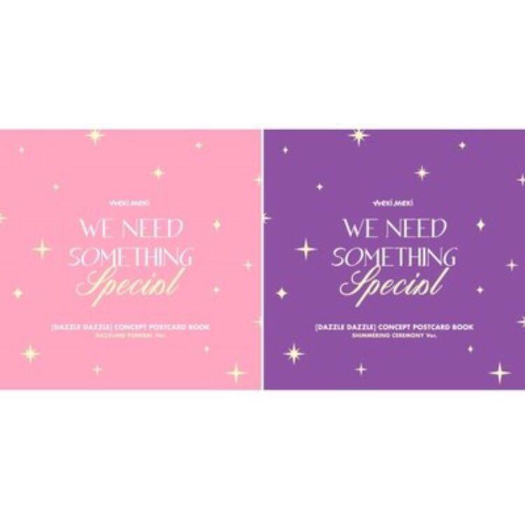 🌺Weki Meki🌺Digital Single ' DAZZLE DAZZLE ' Official MD (Concept Postcard Book)