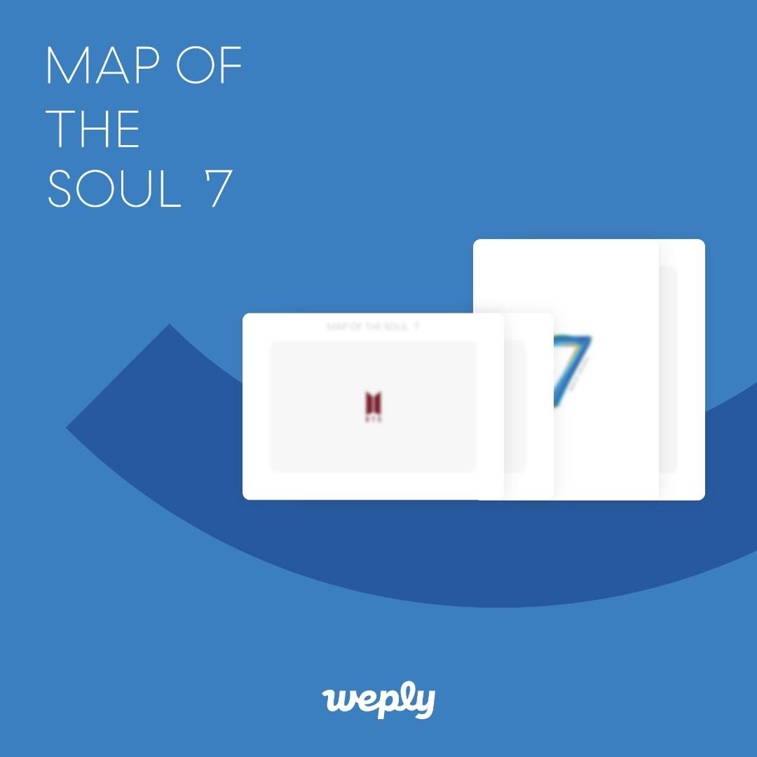 [WTS] WEPLY GIFT (AURORA PHOTO FRAME) BTS Map Of The Soul : 7
