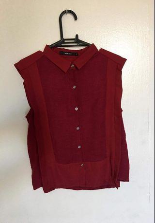 Red Unarosa Blouse