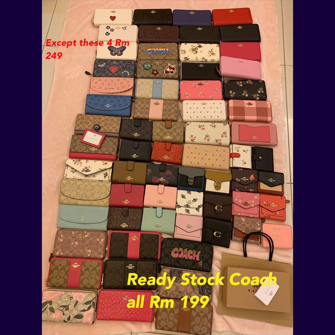 150220 Ready stock coach men backpack traveller bag belt wallet clutch sling bag clutch belt coach