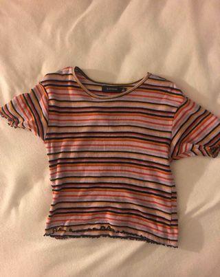 colourful striped shirt!