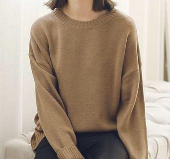 oversized beige sweater