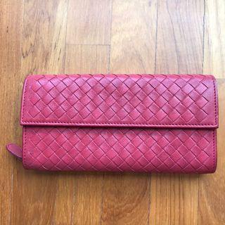 Bottega Veneta Continental Intrecciato Weave Wallet