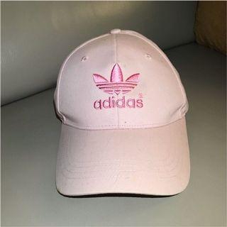 ADIDAS 粉紅色愛迪達鴨舌帽 粉色 棒球帽 老帽