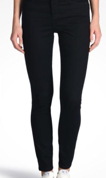 Armani exchange women's super skinny indigo blue jeans