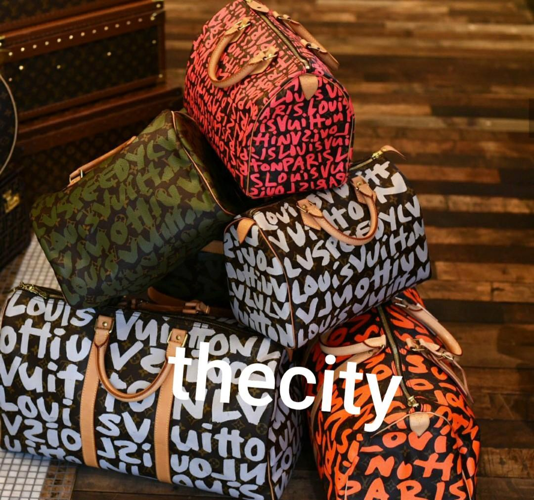 AUTHENTIC LOUIS VUITTON GRAFFITI LIMITED EDITION STEPHEN SPROUSE SPEEDY & KEEPALL BAGS