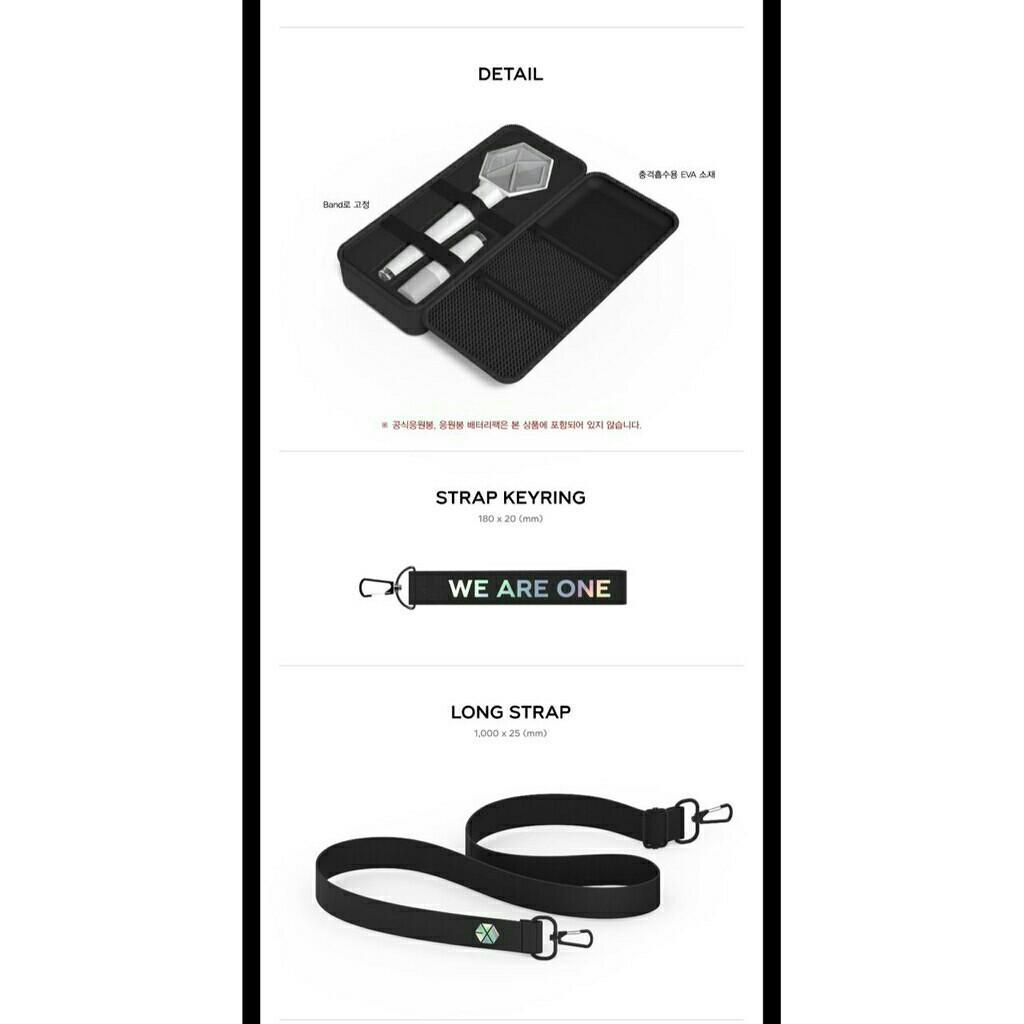 EXO FANLIGHT / LIGHTSTICK OFFICIAL POUCH PRE ORDER