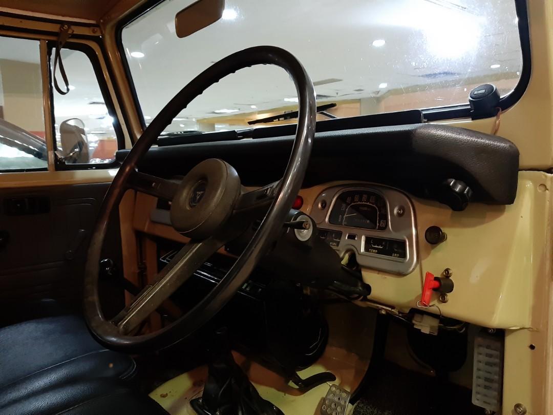 for SALE tahun.1977 Toyota HARDTOP FJ40 MANUAL4x4.KUNING-MUDA.Unit Kondisi PRIMA.Nopol B-Tangerang Selatan