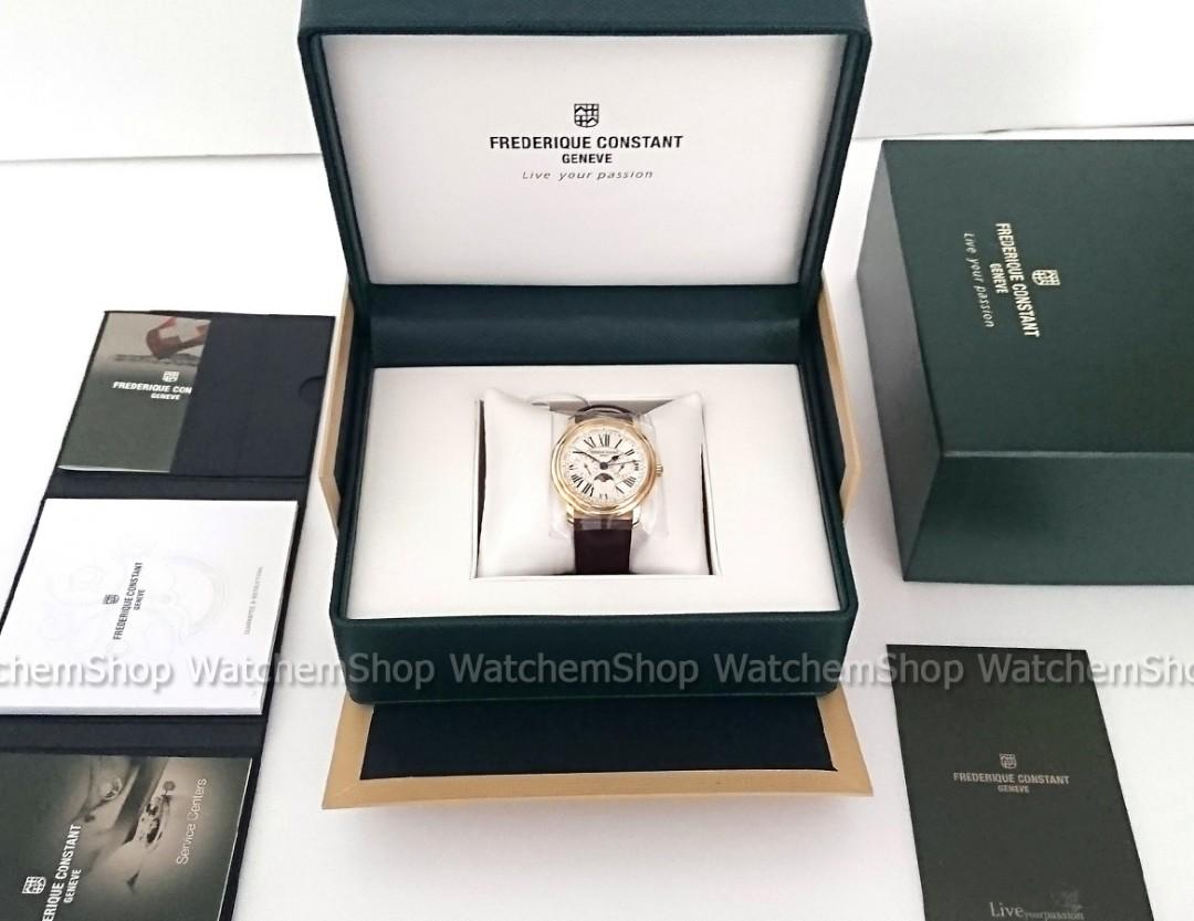 Frederique Constant Persuasion Classic Business Timer Swiss Made Sapphire Crystal Watch